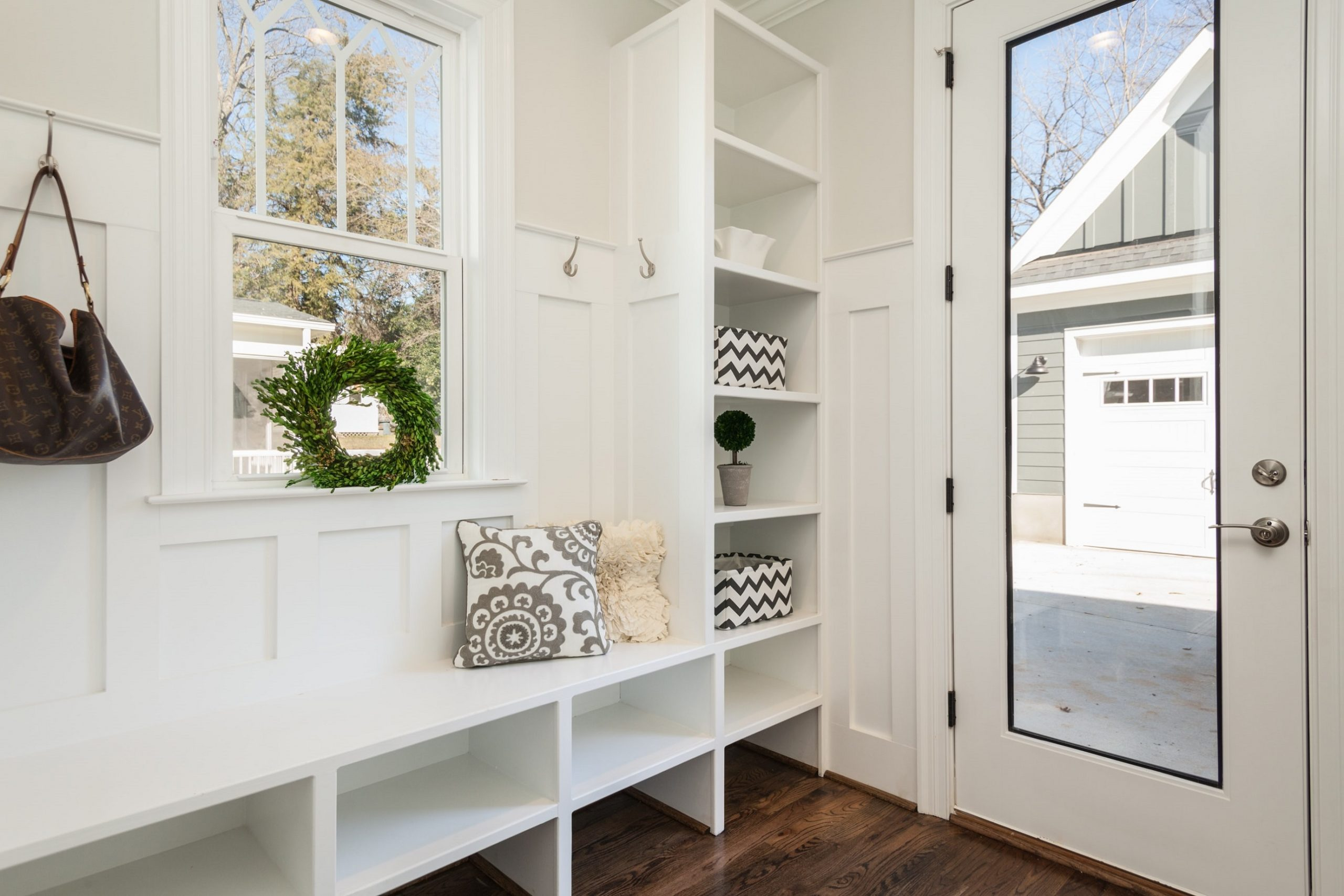neat and organized home entry